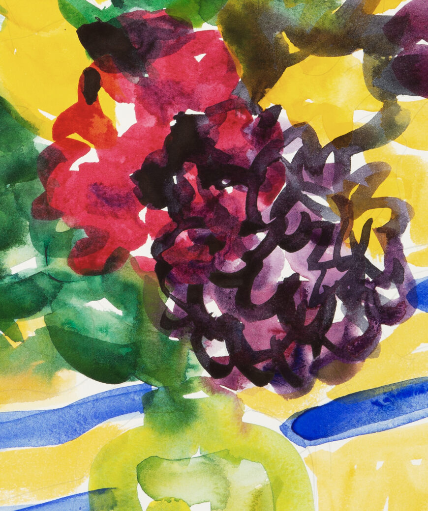 Stephanie Crawford 'Blue and Yellow Still Life 2' Detail 3