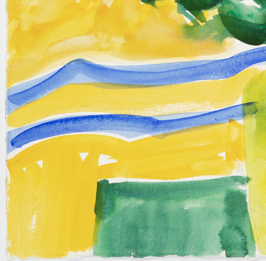 Stephanie Crawford 'Blue and Yellow Still Life 2' Detail 1